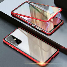 For Samsung Galaxy Note 10 Lite Magnetic Metal Bumper Case Tempered Glass Cover