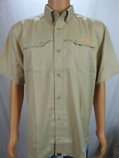 NOMAD Outdoors Khaki Tan Tactical Quick Dry Short Sleeve Hunting Button Shirt L
