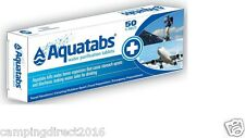 Aquatabs 50 Pack Tablet Potable Water Purification Camping Survival Travel 3.5mg
