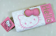 HelloKitty Hasp  Wallet Purse 2017  New Cute Pu Bow White  Long Size