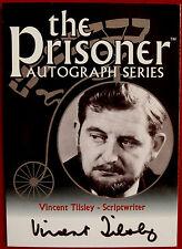 THE PRISONER Vol 1 - VINCENT TILSLEY (Scriptwriter) Autograph Card - Cards Inc