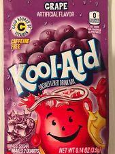 30 Kool Aid Drink Mix GRAPE summer powdered vitamin c popsicle flavor fresh New!