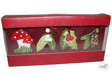 Villeroy&Boch Nostalgic Ornaments Wald Weihnachtsbaum Anhänger Set 4tlg. V&B NEU