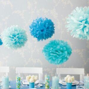 10 Stück Pom Poms DIY Kugelblume Dekoration 25cm Durchmesser - Türkis