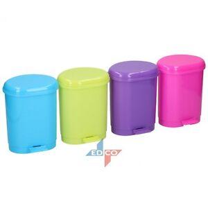 SMALL MINI FOOT PEDAL BIN TABLE TOP OFFICE DESK BIN DUSTBIN PLASTIC CHILDREN