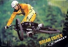 OAKLEY 2006 Brian Lopes BMX bike promo poster Flawless condition NEW old stock