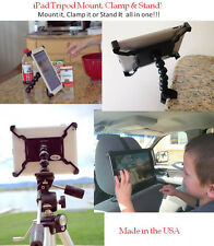 iPad Air Stand, Tripod Mount, Clamp and Headrest mount  All in One 4 in 1 mount