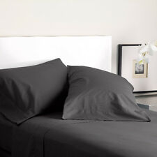 Modern Living T300 Solid Color Queen Sheet Sets (Graphite)