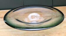 Glasschale antik Glas grün Klarglas Teller Schale Schüssel signiert ZF oder so