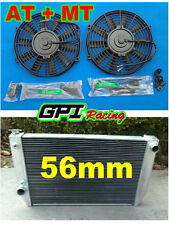 Aluminum Radiator for FORD Falcon XC XD XE XF V8 or 6 cylinder AT/MT + 2X FANS