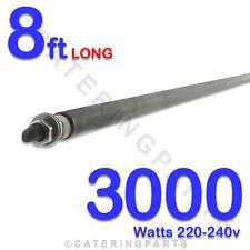"""HE9630 96"""" / 8ft LONG 3000 watt 3kw DRY / WET ROD HEATING ELEMENT 220-240 volt"""