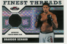 2011 TOPPS FINEST UFC BRANDON SCHAUB FIGHTER WORN GEAR RELIC /188 THREADS
