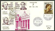 UFFICIO MOBILE n 7 PAOLO VI ANNO SANTO 1975 ANNI SANTI VARI ANNULLO 29 -12 -1975