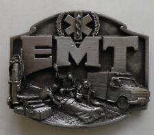 Vintage 1990 EMT Emergency Medical Technician Save Life 3D Belt Buckle