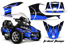 AMR Racing Can Am BRP RTS Spyder Graphic Kit Wrap Street Bike Decal TRIBAL BLUE