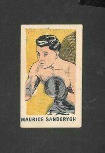 """KIDDYS FAV' 1950 SUPERB ( BOXING ) TYPE CARD """"""""  # 25 MAURICE SANDERYON  """""""""""