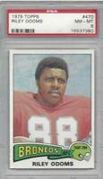 1975 Topps football card #470 Riley Odoms, Denver Broncos graded PSA 8