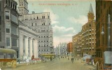 c1910 The Four Corners, Rochester, New York Postcard