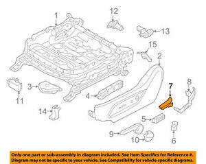 Seat Track-Recline Knob for 13-15 HYUNDAI Santa Fe 881944Z010NBC GENUINE OEM NEW