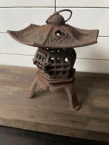 Vintage Cast Iron Chinese Lantern Stunning