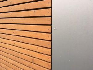 am Lager sib.Lärche Fassade Rhombusprofil Rhombusleisten Holzfassade ABHOLUNG