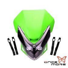 Street Fighter Motorbike Universal LED Headlamp Headlight Fit KlX110 Green