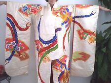Stunning Silk Japanese Uchikake Wedding Kimono, Colorful Birds. W / accessories.