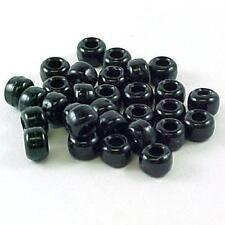 Plastic Crow Beads Black Opaque 9mm 1000 Pack