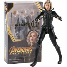 6'' Marvel Avengers Infinity War Black Widow Action Figure Natasha PVC Face Toy