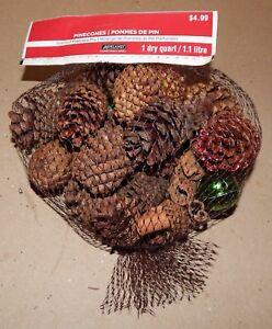 "Pinecones Scented Small 2"" Mix 1 Dry Qt Ashland Bells & Cinnamon Sticks Too 152H"