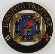 Auto Emblem Knights Templar Cut Out Metal Enamel Freemason Mason Masonic
