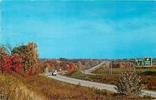 Mercer Grove City PA~Fall Color~Interstate I-79 I-80 Road Signs~1960s Postcard