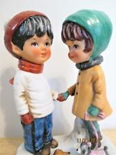 VINTAGE GORHAM JAPAN 1973 MOPPETS GIRL & BOY WALKING DOGS FIGURINE