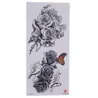 Einmal Tattoos Blumen rose Schmetterling Temporäre Tattoo Body Sticker 19x9cm
