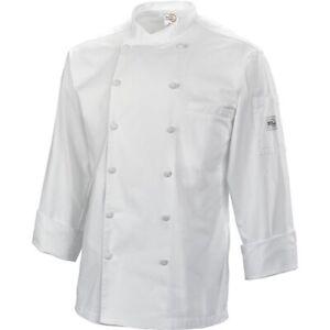 Mercer Renaissance Cutlery Men's Chef Jacket Scoop Neck White MEDIUM M NEW NWT