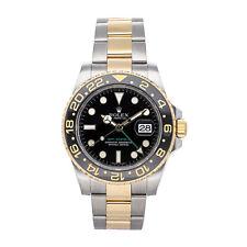 Rolex GMT-Master II Auto Steel Gold Mens Oyster Bracelet Watch Date 116713LN