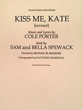 KISS ME, KATE - Piano Conductor's Score for Cole Porter Musical - Revised