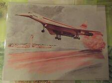 Objet de Métier Affiche Scolaire le Concorde au décollage période 1970