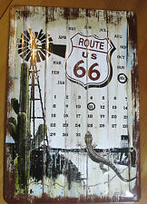 Metallschild, Blechschild, USA, Route 66, Desert Route, ewiger Kalender,