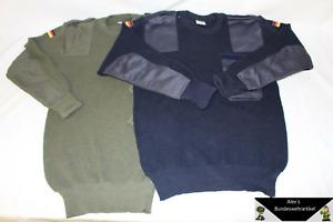 orig BW Pullover Bundeswehrpullover Arbeits-Pulli Wollpullover Oliv Blau gebr