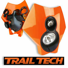 TrailTech x2 Dual Sport Halogen HeadLight Orange MX Dirtbike Moto DOT KTM