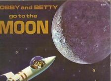 BOBBY & BETTY Go To The Moon LUNAR SPACE AGE ADVENTURE LP children's record