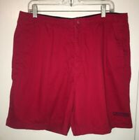 Vintage Chaps Ralph Lauren Men's Red Drawstring Cotton Shorts Sz Large EUC