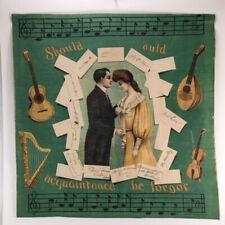 Schwab & Wolf 1905 Chromolithograph Pillow Top, Linen Art Cloth Textile