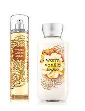 Bath & Body Works Warm Vanilla Sugar Body Lotion and Fragrance Mist Spray Set