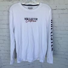 Hollister Embroidered Spellout Long Sleeve Shirt Mens Small