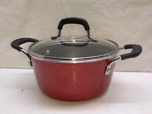 Tramontina Porcelain Enamel Healthy Non Stick 3 Qt Stock Pot Oven Safe & Lid USA