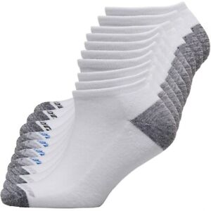 Ten Pack Of Pro Player Mens Cushioned No Show Socks White