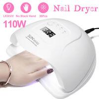 SUNX5plus 110W UV LED Nail Lamp Nail Dryer Polish Infrared Sensing Painless