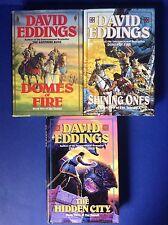 3 David Eddings Tamuli Trilogy HC/DJ BCE~Domes of Fire~Shining Ones~Hidden City